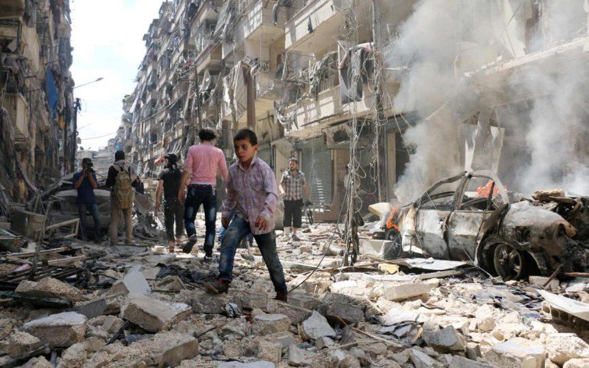 Siria-Aleppo-bombardata